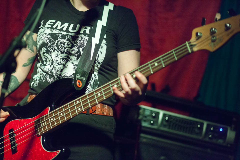 Lemuria tee, Fender Jazz bass. Can't go wrong, really...