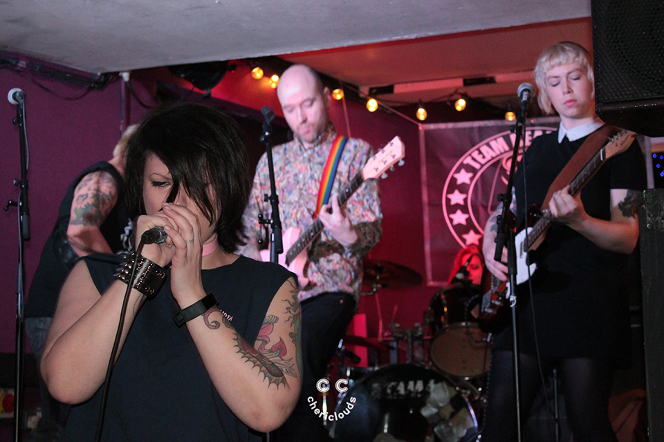 Girls to the front! Holly brings riot grrrl power to Wales.