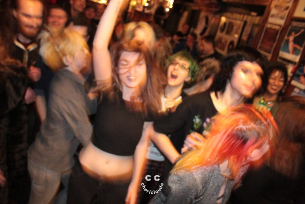 Blurry Cat Backlash dances in the mosh pit (image: Cheri Clouds)