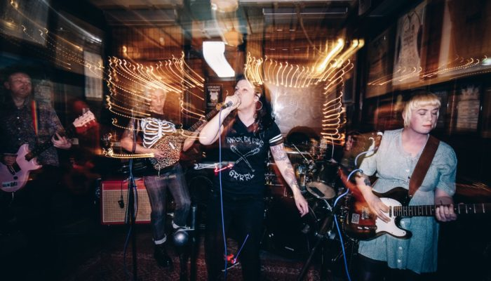 Kiss Me, Killer in action at the Pig and Fiddle, Bath (image: Meg Manley)