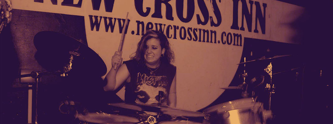 Drummer AJ at Dugstock II, London (image: Cooper Rose)